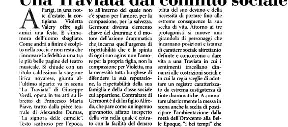 Traviata, Teatro Coccia, Novara.