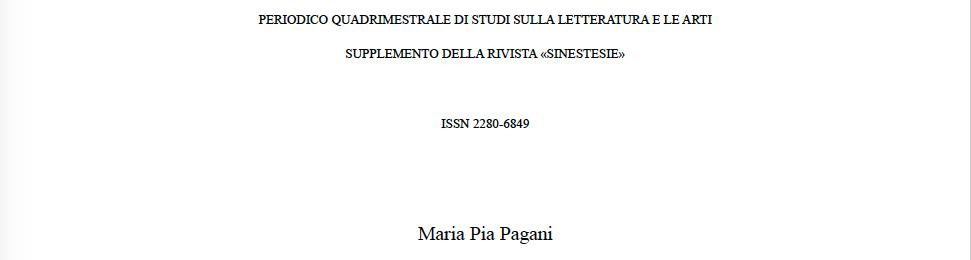 IL TEATRO CON LA MAIUSCOLA di Maria Pia Pagani