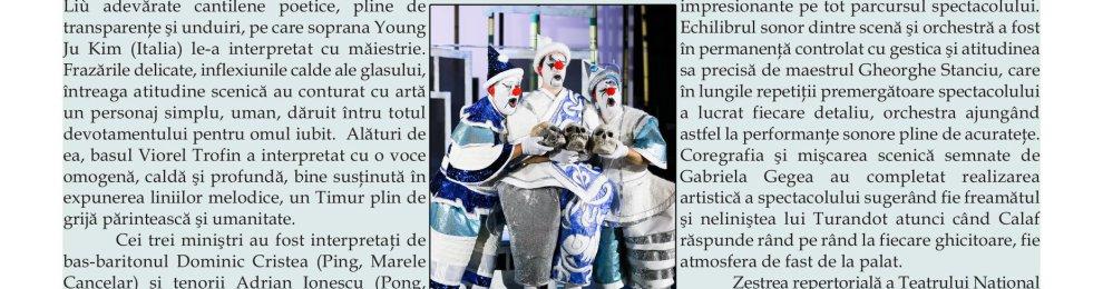 "Premiera operei ""Turandot"" – di Laura Sava"